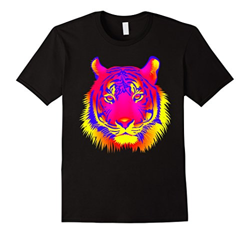 EDM Electronic Dance Techno Neon Tiger Rave T-Shirt