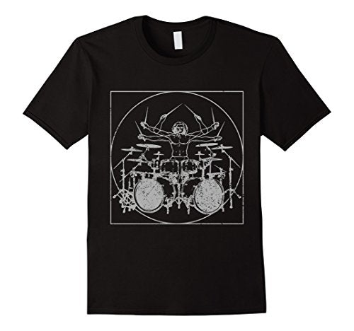 Double Bass T Shirt | Vitruvian Man T Shirt | Drums Shirt - UGR Collection