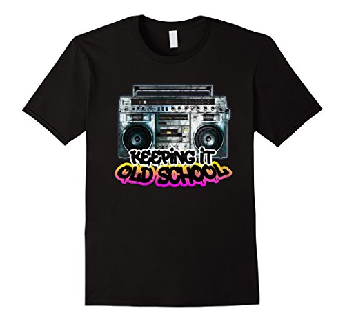 Keeping It Old School - Vintage Boombox 80s T-Shirt - UGR Collection