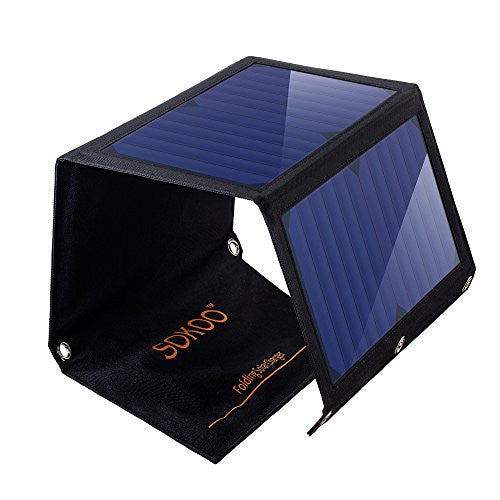 SOKOO 22W 5V 2-Port USB Portable Foldable Solar Charger with High Efficiency Solar Panel - UGR Collection