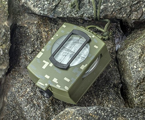 SE CC4580 MilitaryLensatic/Prismatic Sighting Compass with Pouch - UGR Collection