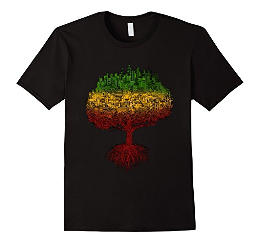 City Roots Rasta Reggae Roots Clothing T Shirt Tee Jamaica - UGR Collection