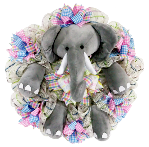 Baby Elephant Nursery Wreath