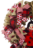 Lady Bug Burlap Wreath