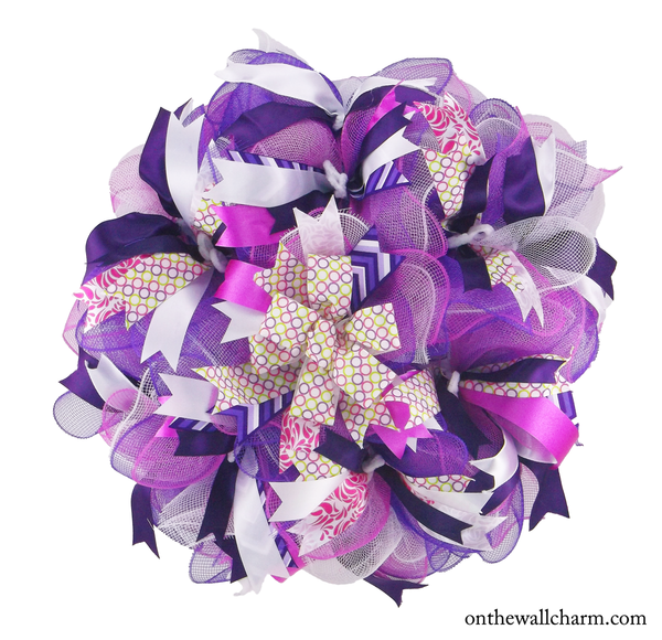 Purple Splash - On the Wall Charm