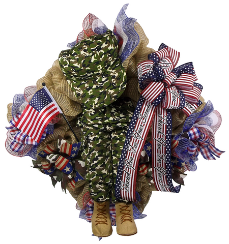 Patriotic Thank You Wreath