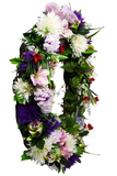 Purple Floral Grapevine Wreath