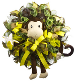Monkey See Monkey Do Baby Wreath