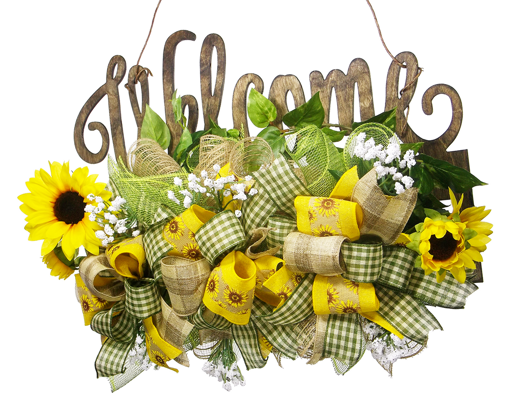 Welcome Sunflower Door Hanger – On the Wall Charm