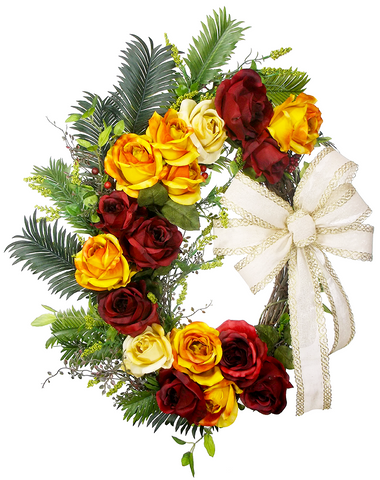 Rose Grapevine Wreath
