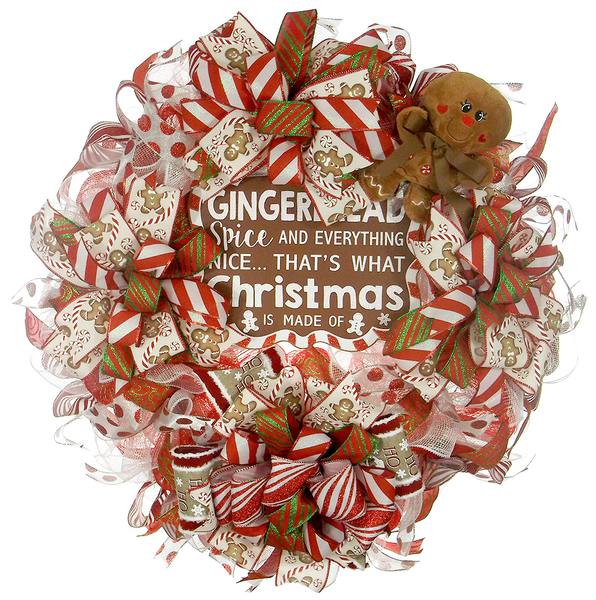 Peppermint Gingerbread Wreath On The Wall Charm