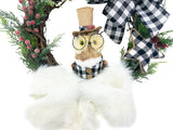 Winter Rustic Owl Grapevine