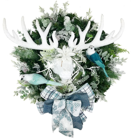 Winter Deer Pine Wreath