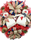 Primitive Gingerbread Couple Wreath