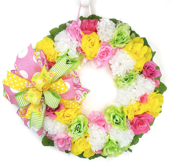 Spring Rose Wreath