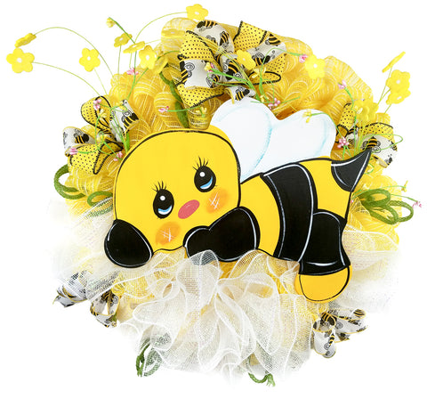 Baby Bumble Bee Wreath