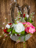 Romantic Jeweled Heart Centerpiece