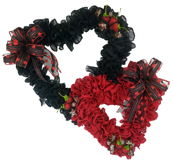 Double Heart Valentine Wreath