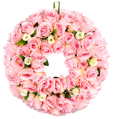 Pink Rose Bundle Wreath