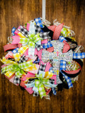 Faith Deco Mesh Wreath