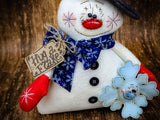 Winter Snowman Snowflake Primitive