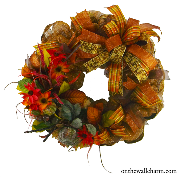 Autumn Traditions Wreath - On the Wall Charm