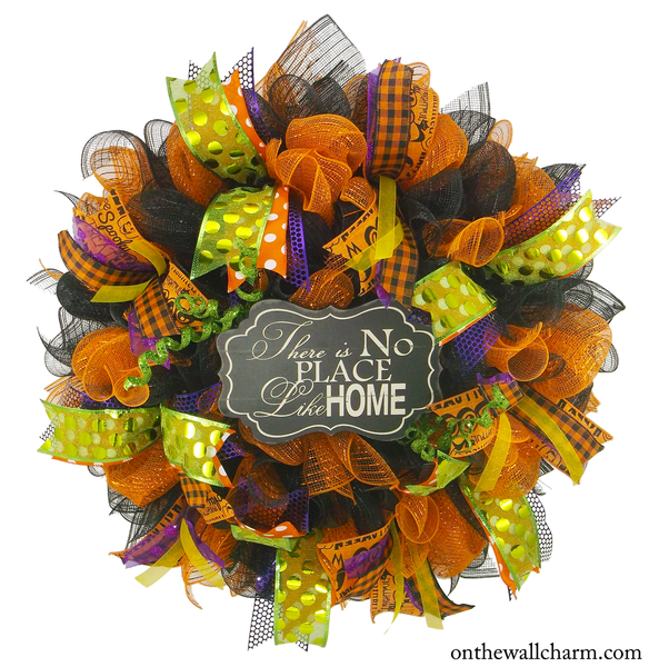 Splash of Halloween Front Door Wreath