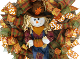 Autumn Scarecrow Boy Wreath