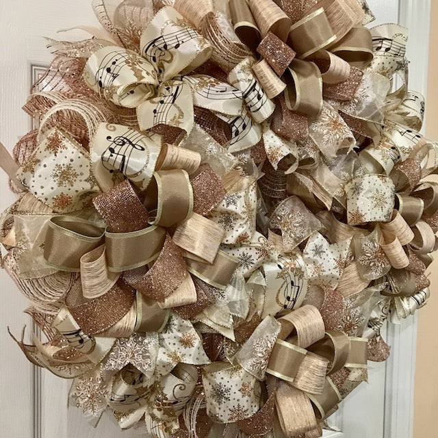 Rose Gold Wreath On The Wall Charm