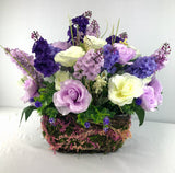 Mother's Day Purple Centerpiece