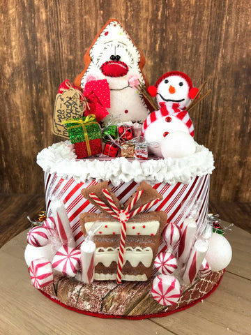 Faux Christmas Gingerbread Cake
