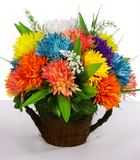 Colorful Mum Centerpiece