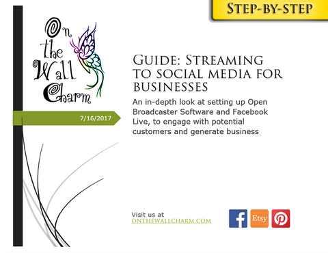 E-Book: Streaming to Social Media for Businesses - Step by Step Guide