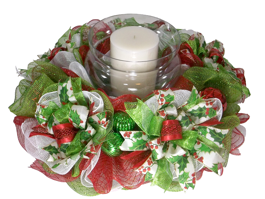 Christmas Candle Rings.Traditional Christmas Candle Ring