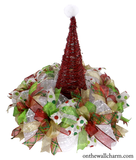 Santa Hat Grapevine Seasonal Centerpiece