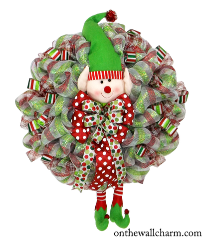 Giant Christmas Elf Wreath