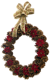 Rustic Christmas Pine Cone Wreath