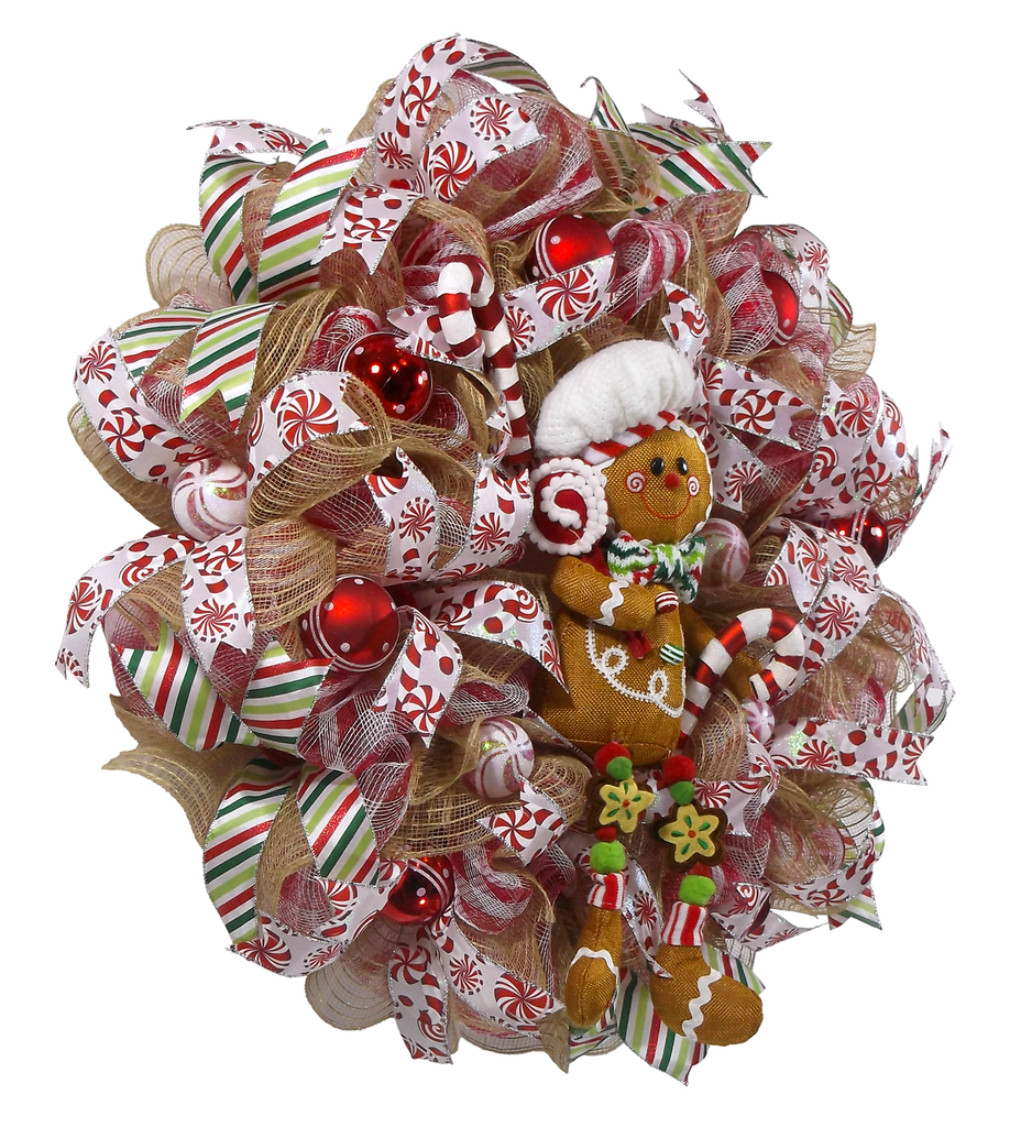 Gingerbread Christmas Fun Wreath On The Wall Charm
