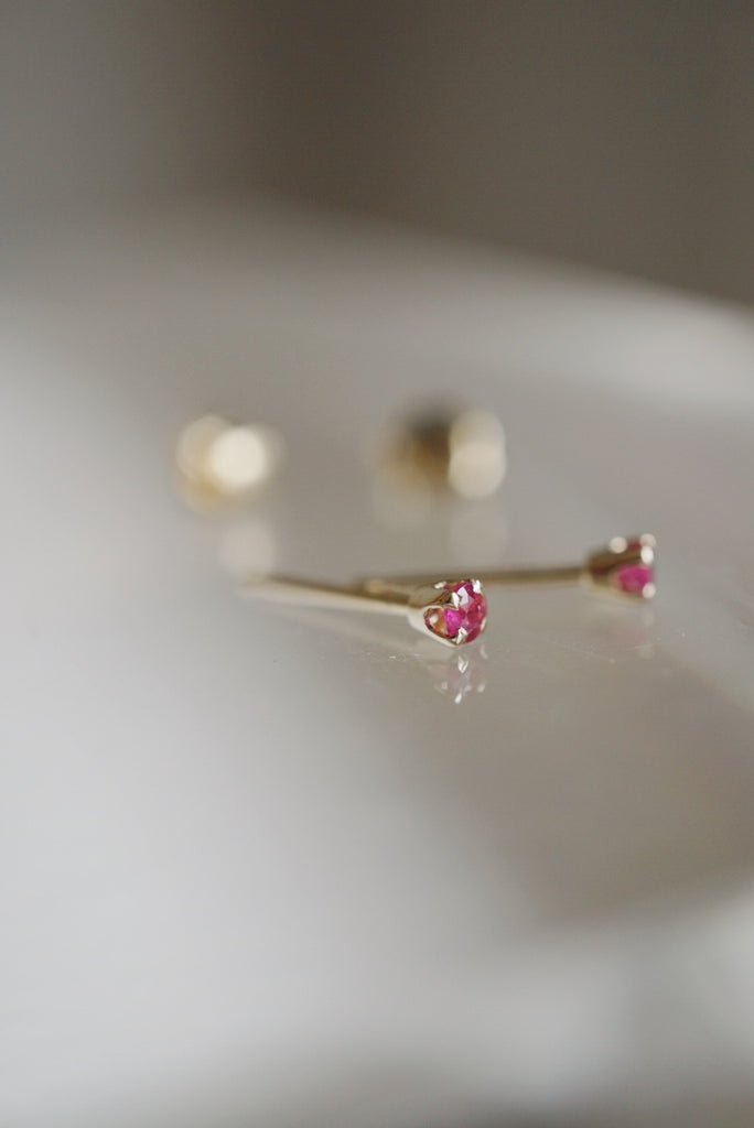 Baby Ruby Studs