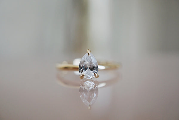 Only One Ring - Pear White Diamond *made-to-order