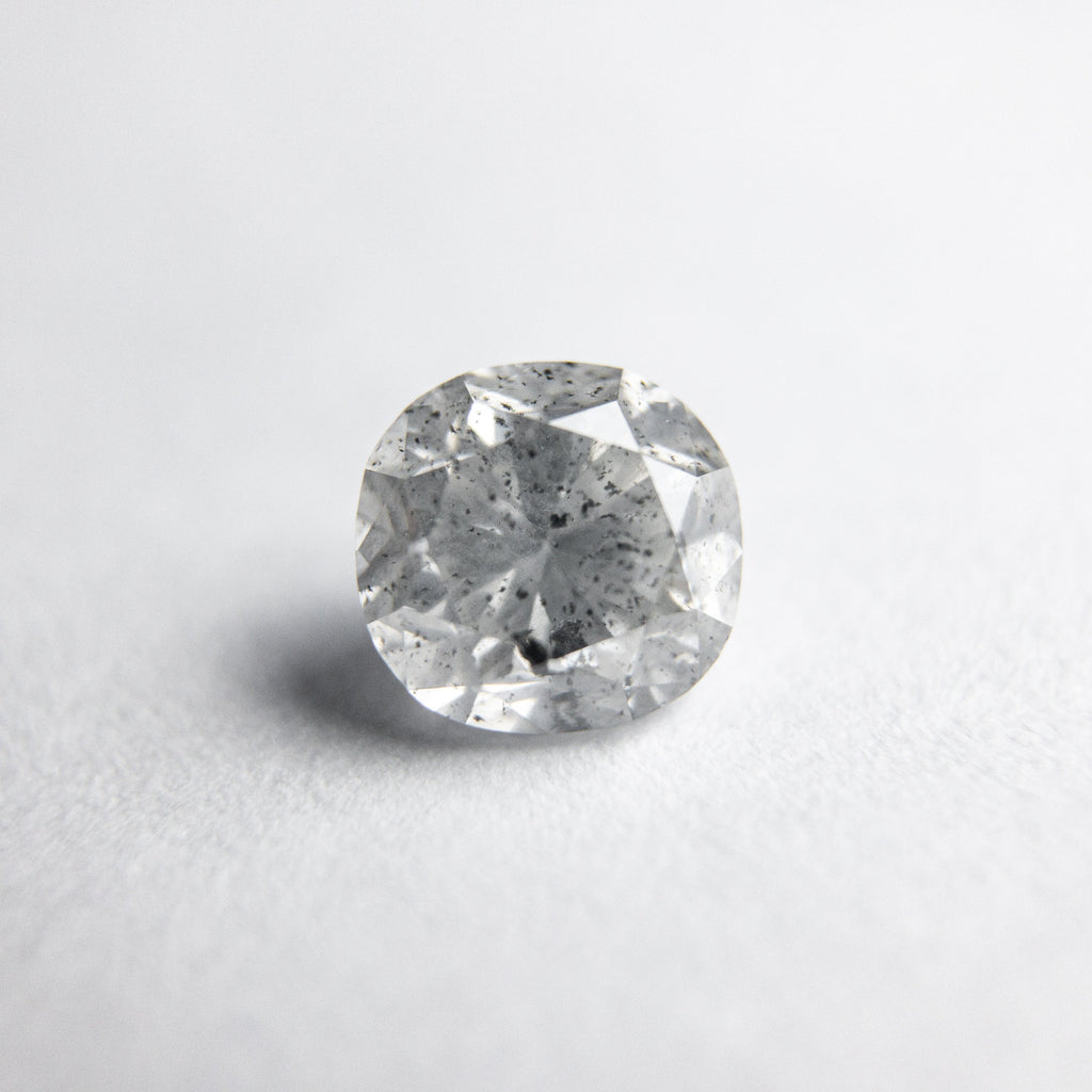 Salt and Pepper Brilliant Diamond - 0.72ct Cushion