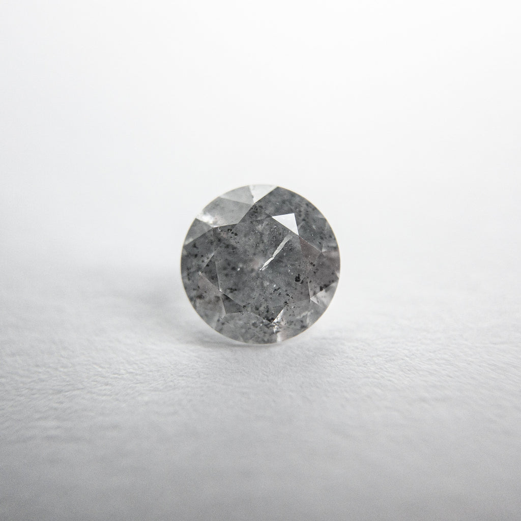 Salt and Pepper Brilliant Diamond - 0.68ct Round