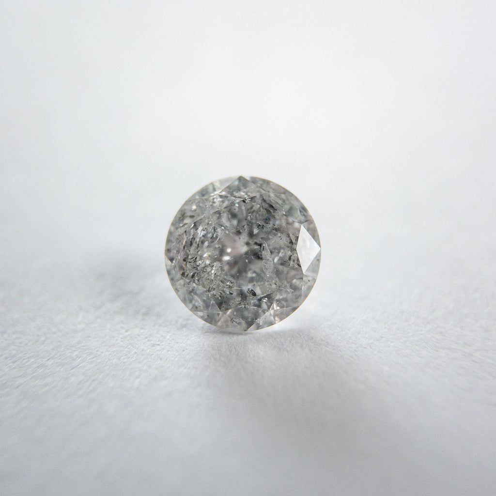 Grey Salt and Pepper Brilliant Diamond - 0.72ct Round
