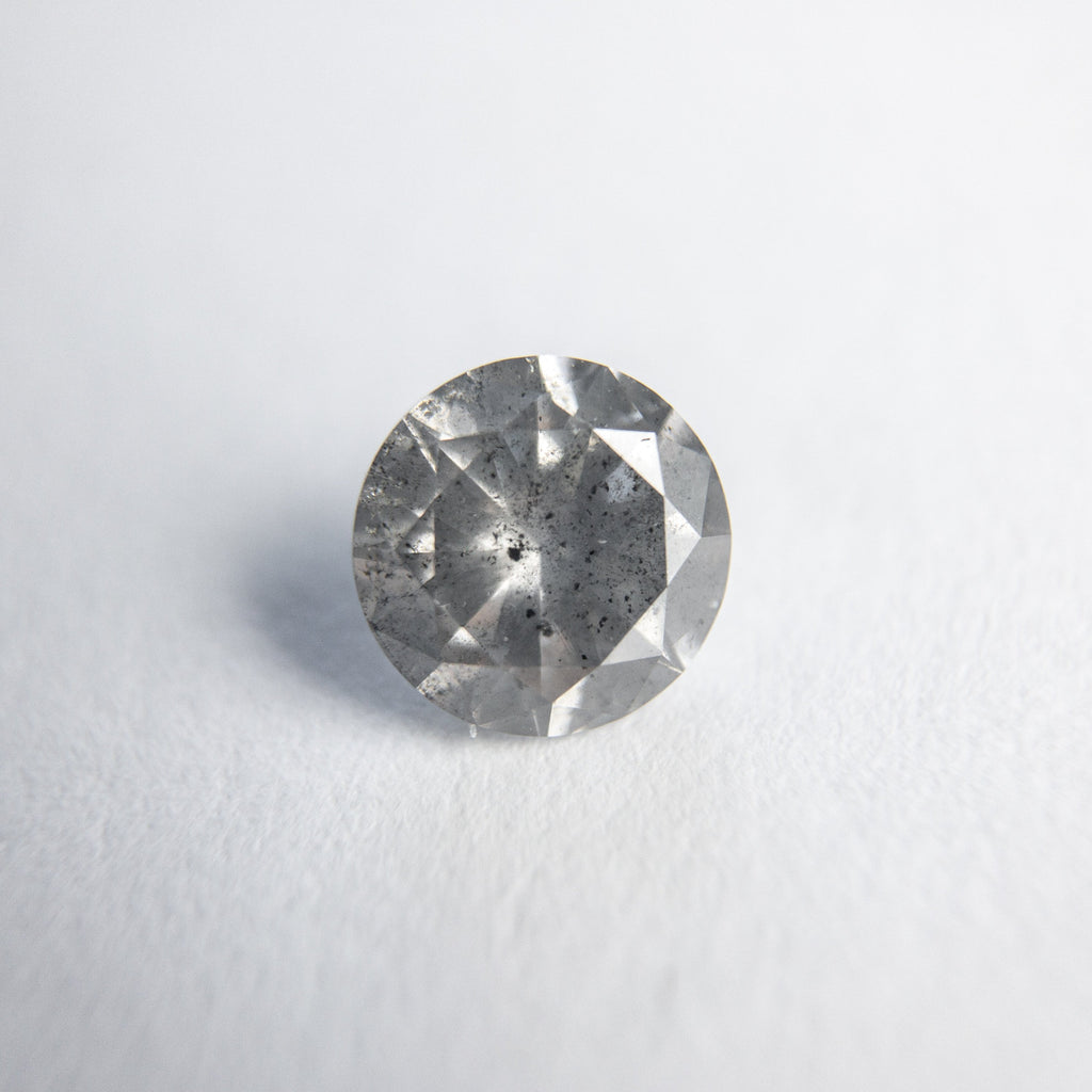 Salt and Pepper Brilliant Diamond - 0.62ct Round