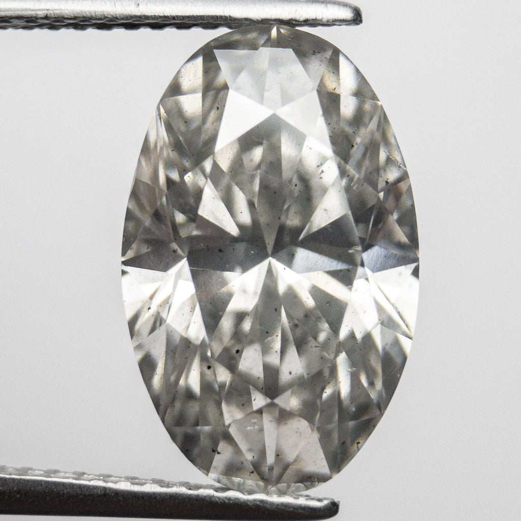 Icy Grey Brilliant Diamond - 6.22ct Oval
