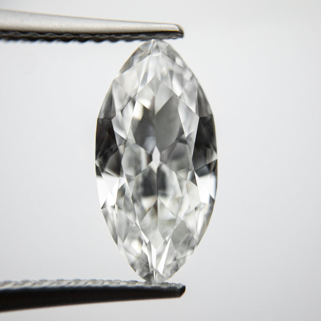 Salt and Pepper Antique Brilliant Diamond - 2.09ct Marquise