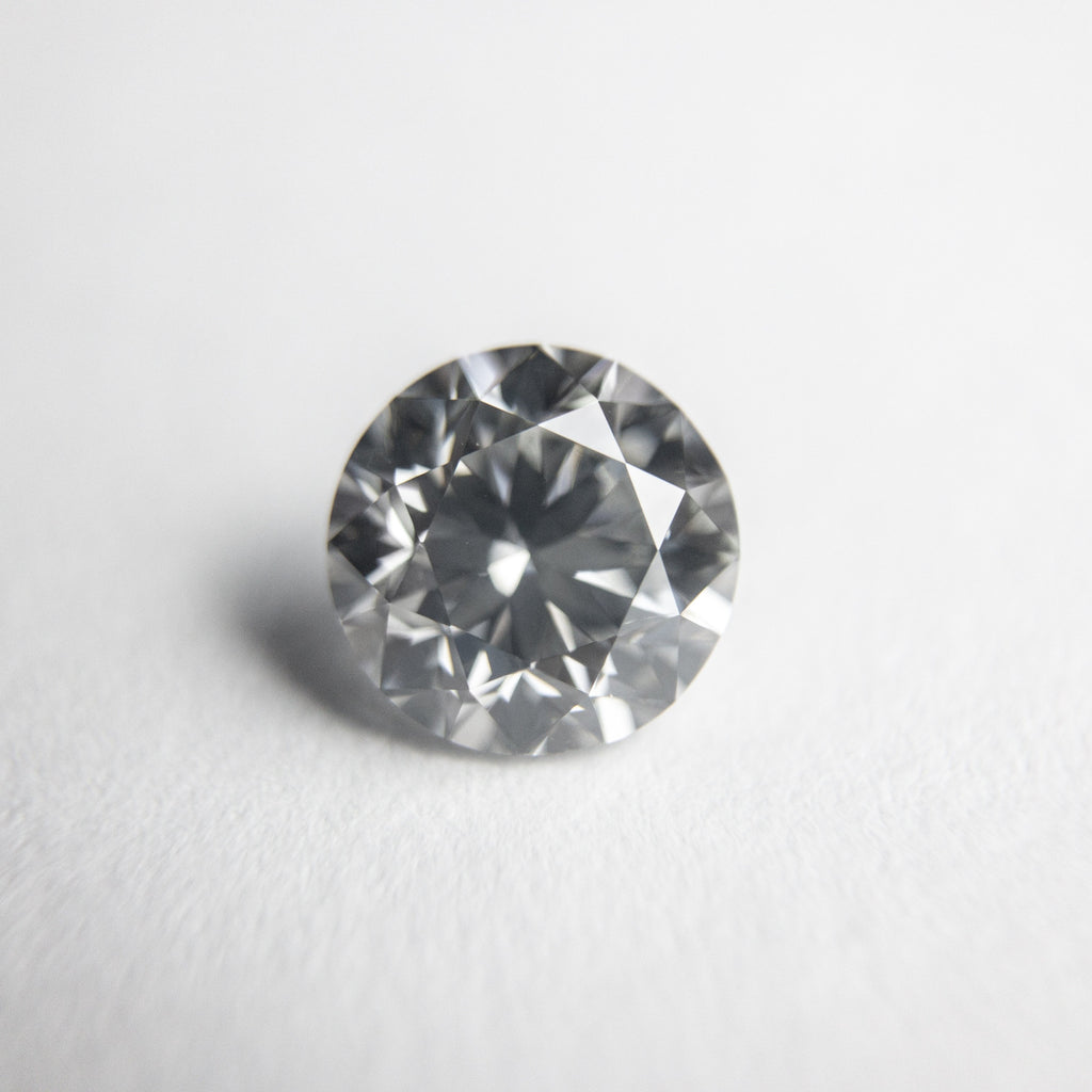 Silver Grey Brilliant Diamond - 1.01ct Round