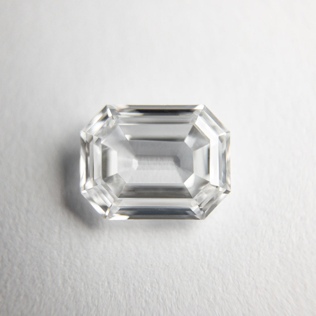 White Step Cut Diamond - 1.12ct Cut Corner Rectangle