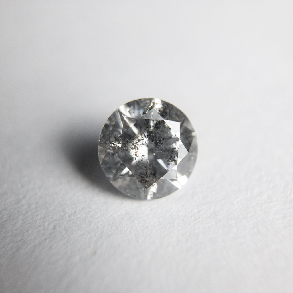 Salt and Pepper Brilliant Diamond - 0.71ct Round