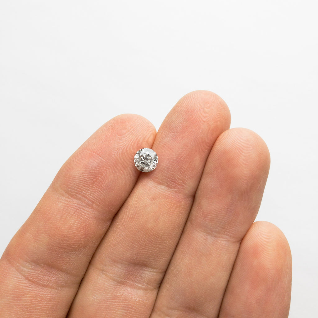 Salt and Pepper Brilliant Diamond - 0.95ct Round
